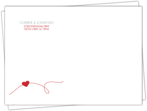 Red and Gray Journey Custom Envelope