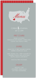 Red Gray Journey Wedding Menu