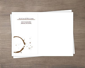 Brown Coffee Perfect Blend Custom Envelope