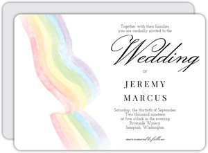 Flag Rainbow Gay Wedding Invitation