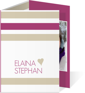 Purple Tuape Soft Stripes Wedding Invitation