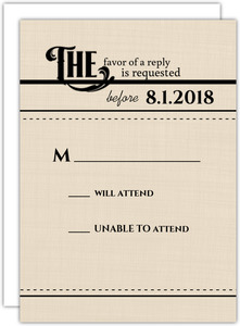 Western Love Wedding Response Card