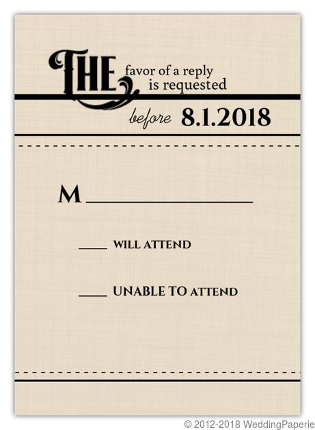 western love wedding response card wedding response cards