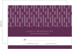 Hanging White Willow Response Card