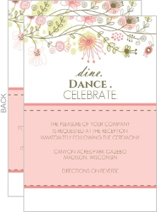 Spring Floral Border Enclosure Card