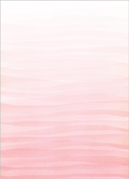 Monogram Pink Watercolor Ombre Wedding Invitation ...