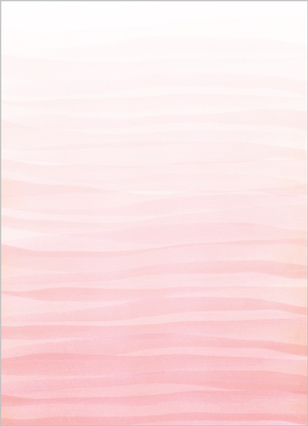 Monogram Pink Watercolor Ombre Wedding Invitation | Wedding Invitations