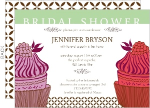 Pink Cupcake Bridal Shower Invitation