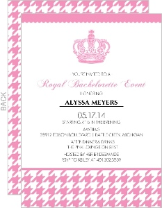 Royally Pink Bachelorette Party Invitation
