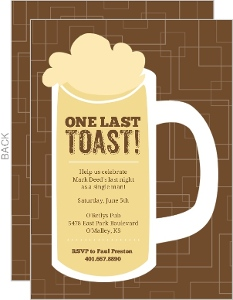 Beer Mug Bachelor Party Invite