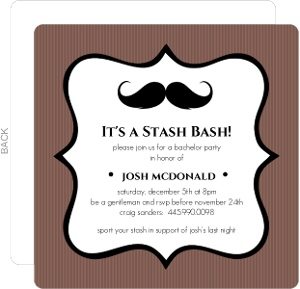 Stash Bash Bachelor Party Invite