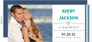 Blue Nautical Anchor Save The Date