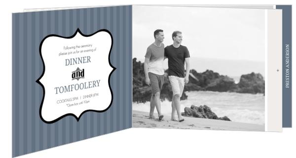 Gay Wedding Invitations: Cream Vintage Mustache Gay Wedding Invitation