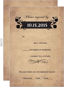 Rustic Skulls Day of the Dead Halloween Response Card