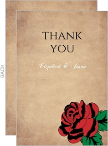 Rustic Skulls Day of the Dead Halloween Thank You Card