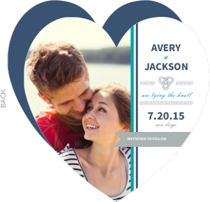 Navy Nautical Knot Save The Date Announcement