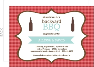 Backyard BBQ Couples Shower Invitation