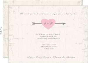 Rustic Heart Barn Door Wedding Invite