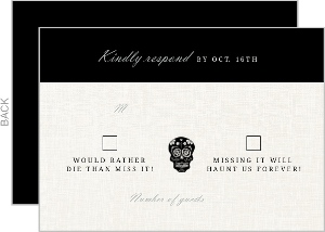 Elegant and Creepy Bride and Groom Response Card