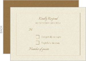 Pumpkin Initials Tan Halloween Response Card