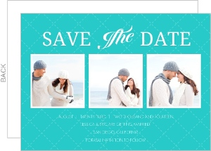 Sea Side Blue with Quilt Pattern Save The Date