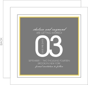 Contemporary Yellow and Gray Save The Date