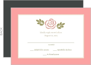 Floral Monogram Bouquet Wedding Response Card