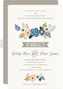 Springtime Floral Wedding Invitation