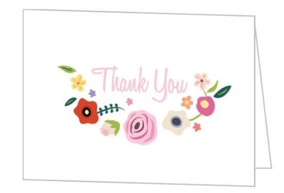 Bright Blossoms Thank You Card Wedding Thank You Cards