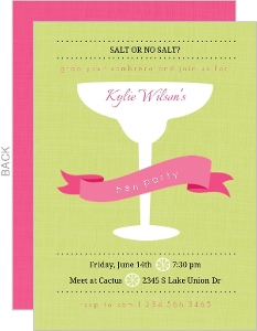Lime Green Margarita Bachelorette Party Invitation