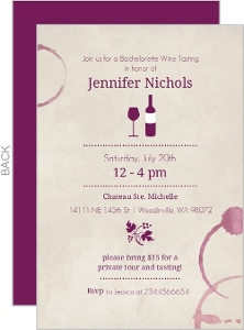 Wine Rings Bachelorette Party Invitation
