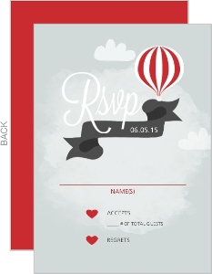 Love Is In The Air Wedding Response Card