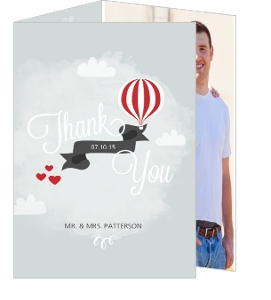 Love Is In The Air Wedding Thank You Card