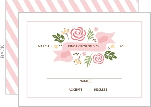 Modern Floral Wedding Response Card