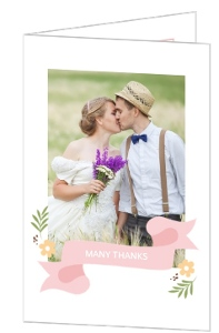 Modern Florals Wedding Thank You Card