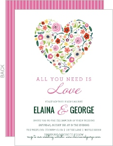 Blooming Heart Wedding Invitation