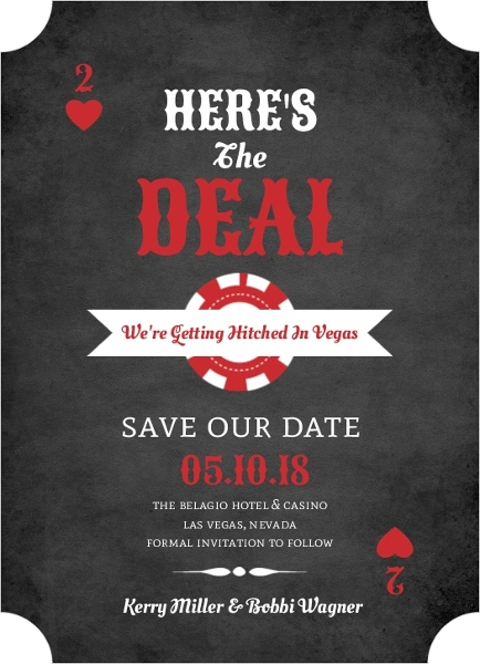 Las Vegas Save The Date Cards Las Vegas Save The Dates - Destination wedding save the date email template