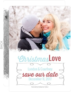 Woodsy Winter Love Save The Date Announcement