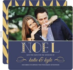 Noel Holiday Save The Date Announcement