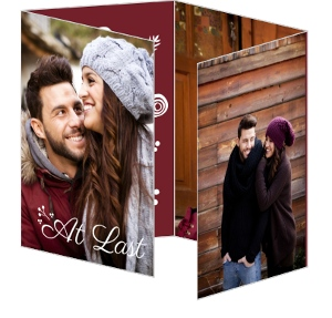 Whimsical Berries Holiday Save The Date Announcement