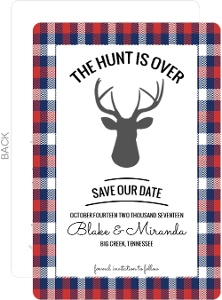 Flannel Hunting Save the Date Postcard