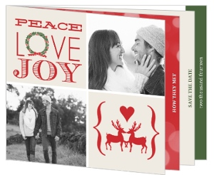 Classic Holiday Photo Booklet Save The Date Card