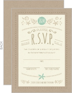 Nature Mint Kraft Response Card
