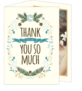 Woodland Rustic Frame Wedding Thank You Card