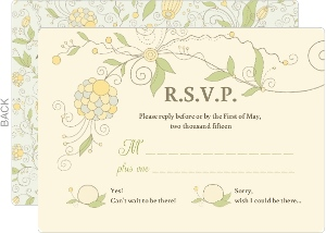 Whimsical Summer Floral Response Card