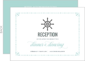 Mint Pastel Nautical Beach Enclosure Card