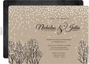 Winter wedding invitations winter wedding invites rustic winter snow wedding invitation filmwisefo
