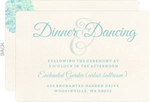 Elegant Watercolor Blooms Wedding Enclosure Card