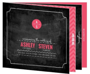 Modern Rustic Chalkboard Wedding Booklet Invitation