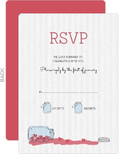Rustic Love Jar Wedding Response Card